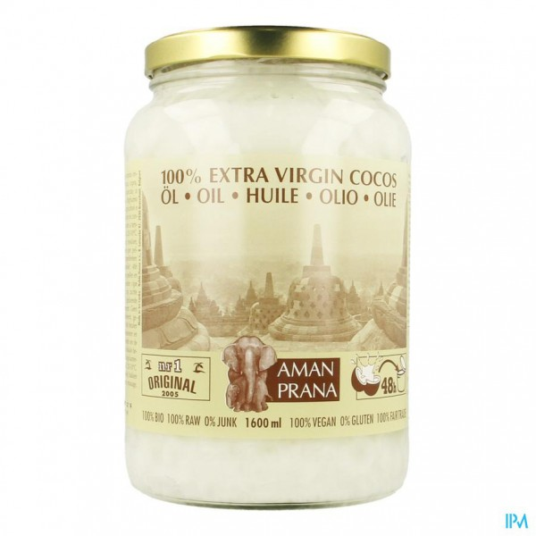 Amanprana Extra Virgin Cocos Olie 1600ml